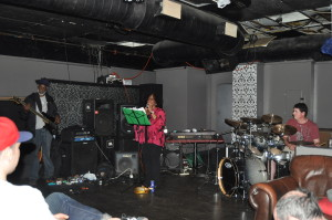 Out Da' Pocket Donell on Bass, Dazee - spoken word, Travis on Drums